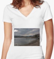 Lake Windermere Women's Fitted V-Neck T-Shirt
