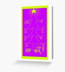 Kids Christmas Tree Greeting Card