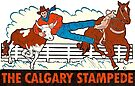 The Calgary Stampede Vintage Travel Decal by hilda74