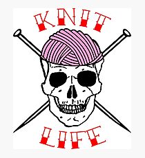 knit life Photographic Print