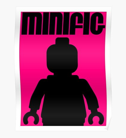 Retro Large Black Minifig  Poster