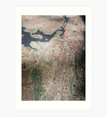 Scale-Model Manhattan, Bronx, New York City Art Print