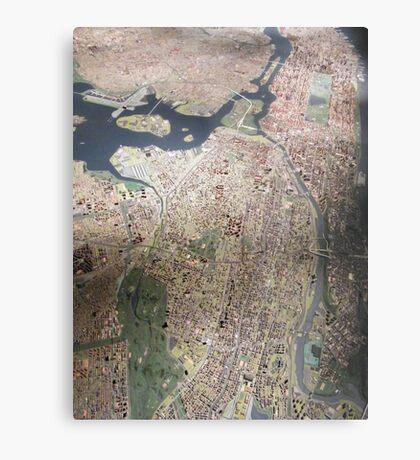 Scale-Model Manhattan, Bronx, New York City Metal Print
