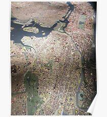 Scale-Model Manhattan, Bronx, New York City Poster