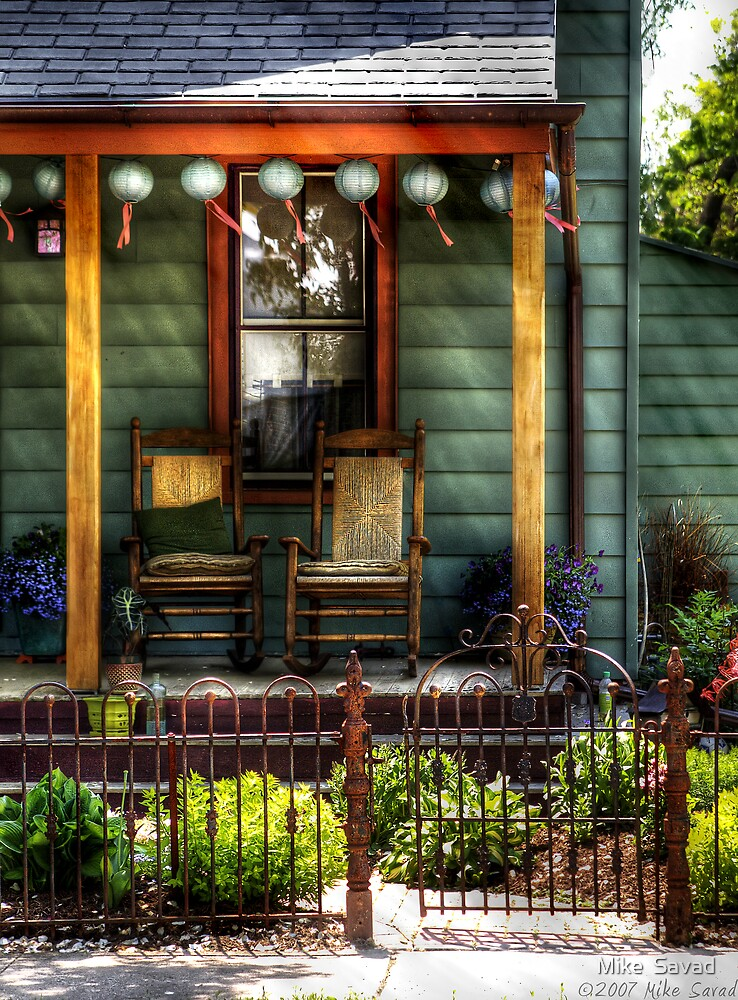 Two rocking chairs by Michael Savad
