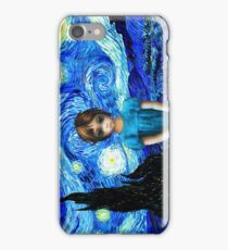 Big Eyes With Starry Night Vincent Van Gogh iPhone Case/Skin