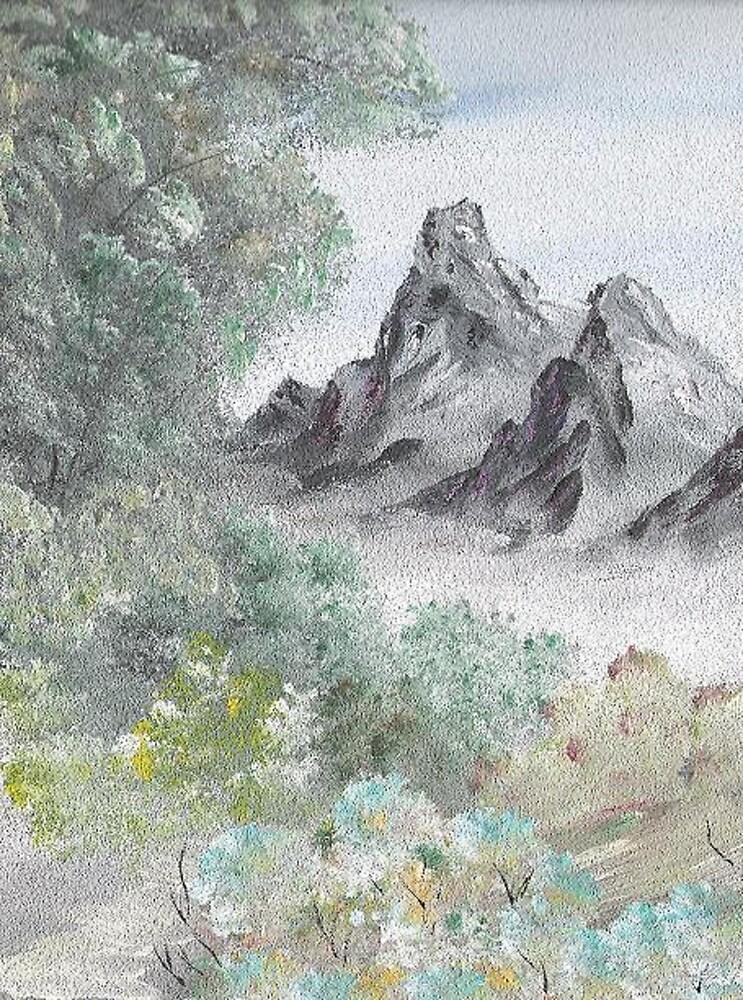Sandpaper Landscape by Ginger Lovellette