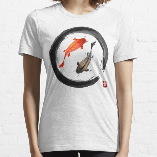 Japanese Koi Vintage Ink Shodo Essential T-Shirt