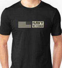 Navy Veteran (Black Flag) Unisex T-Shirt