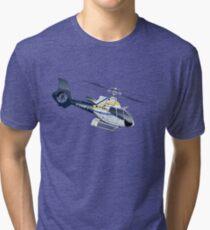 Cartoon Helicopter Tri-blend T-Shirt