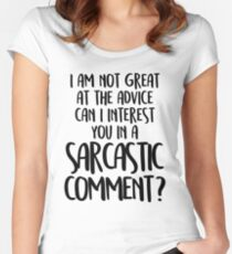 FRIENDS - Chandler Bing - Sarcastic comment Women's Fitted Scoop T-Shirt