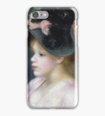 Auguste Renoir - Young Girl In A Pink - And - Black Hat iPhone Case/Skin
