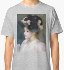 Auguste Renoir - Young Girl In A Pink - And - Black Hat Classic T-Shirt