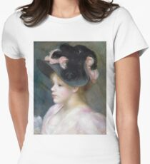 Auguste Renoir - Young Girl In A Pink - And - Black Hat T-Shirt
