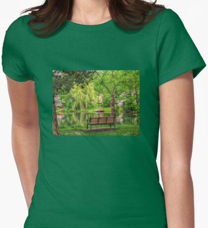 Island Bench, Packanack Lake, Wayne New Jersey T-Shirt