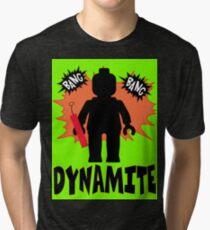 Dynamite Minifigure  Tri-blend T-Shirt