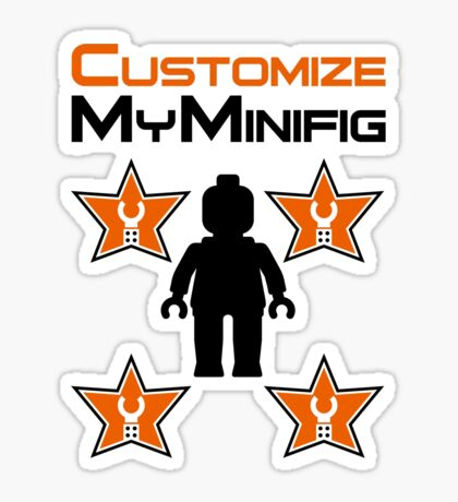 Minifig [Black] with Customize My Minifig Star Logos Sticker