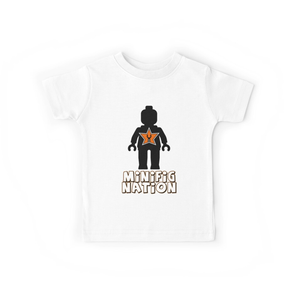 """""""MINIFIG NATION"""" Minifig [Black]  by Customize My Minifig"""