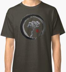 Japanese Pine Tree in Enso Zen Circle - Vintage Japanese Ink Classic T-Shirt