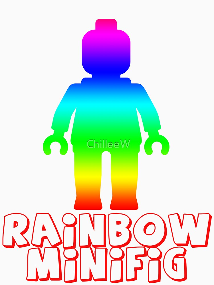 Rainbow Minifig  by ChilleeW