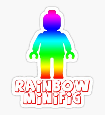Rainbow Minifig  Sticker