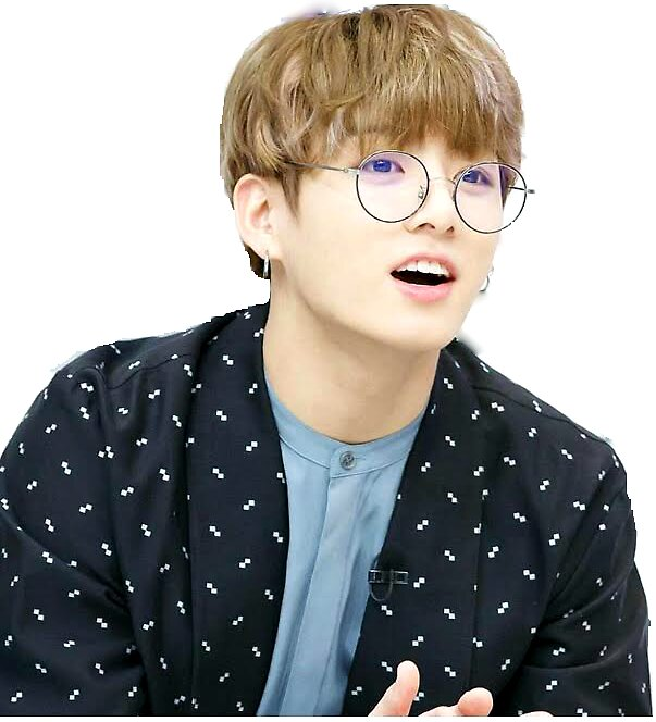 Quot Jungkook With Glasses Quot Stickers By Jahnvi Modi Redbubble