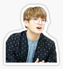 Jungkook with glasses Sticker