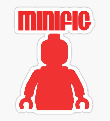 Retro Large Red Minifig Sticker