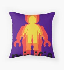 Colored Minifigs Throw Pillow