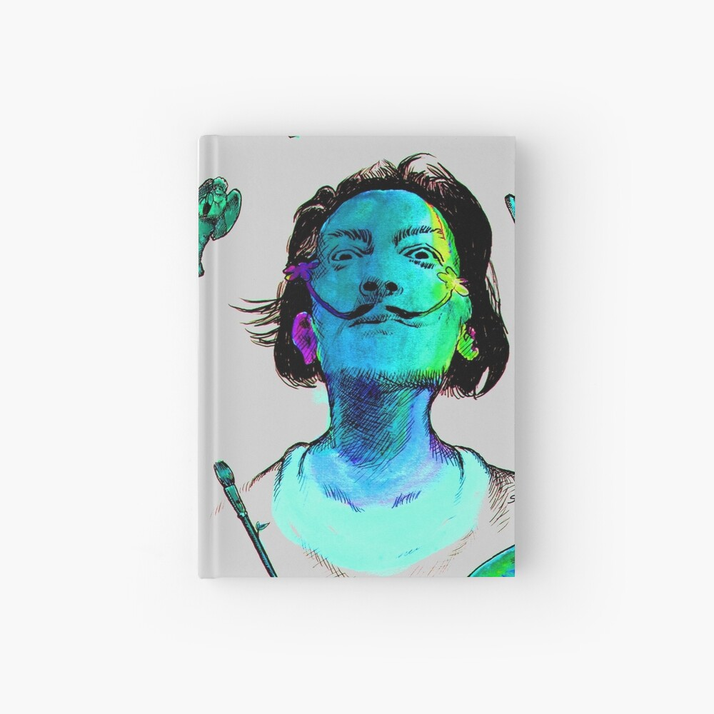 Salvador Dali Surrealismus-Kopf-berühmte Maler-Künstler Notizbuch