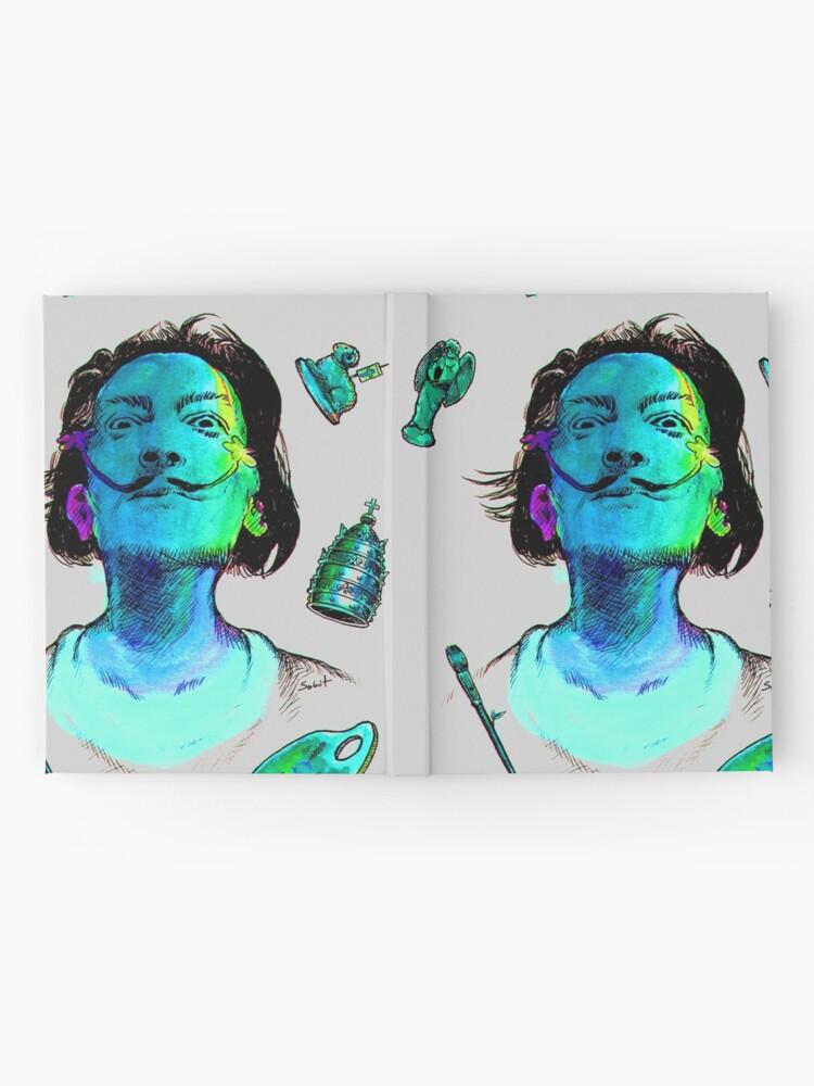 Alternative Ansicht von Salvador Dali Surrealismus-Kopf-berühmte Maler-Künstler Notizbuch