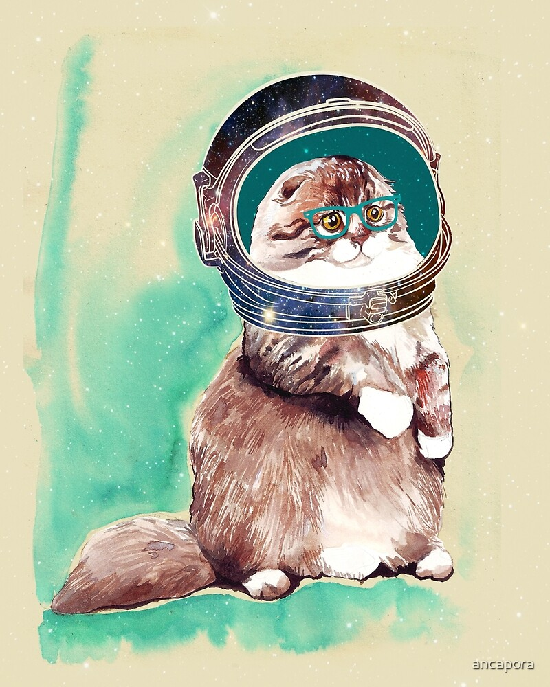 """ASTRONAUT CAT"" by ancapora 