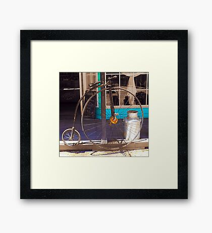 About time - The bicycle Framed Print