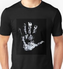 Palm print Finger Prints Black White  T-Shirt