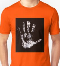 Palm print Finger Prints Black White  Unisex T-Shirt