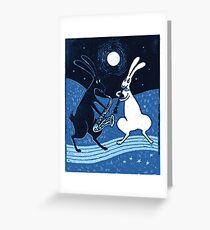 Blue Moon Blues Greeting Card