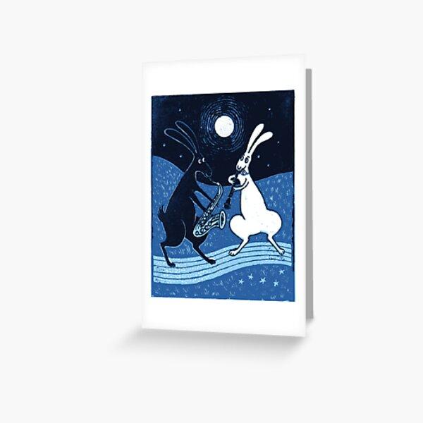 Blue Moon Blues Greeting Card