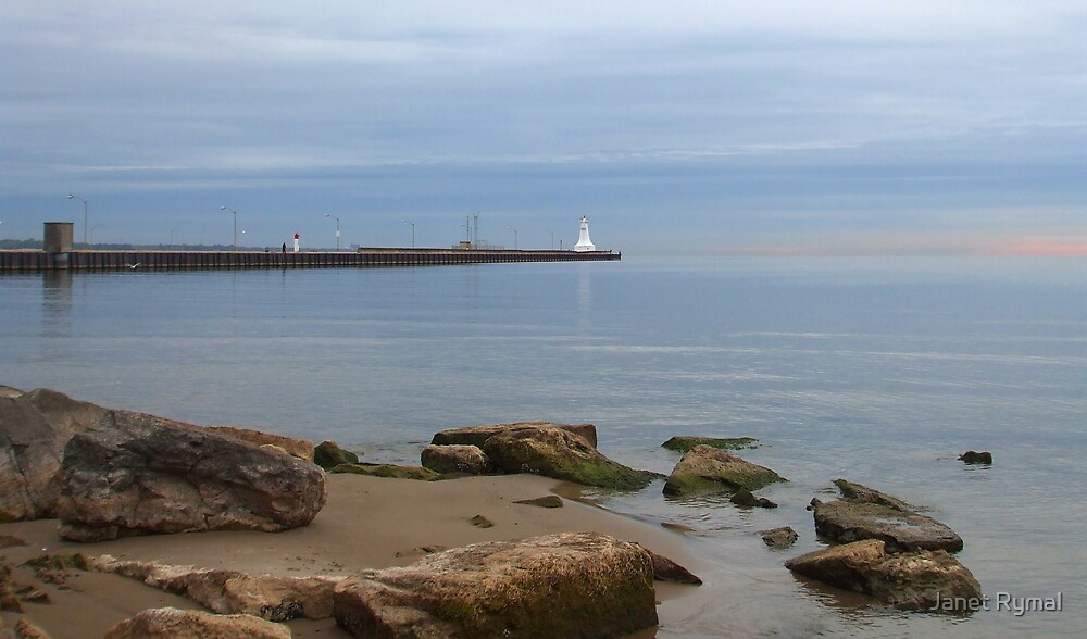 Pier From the Beach by Janet Rymal