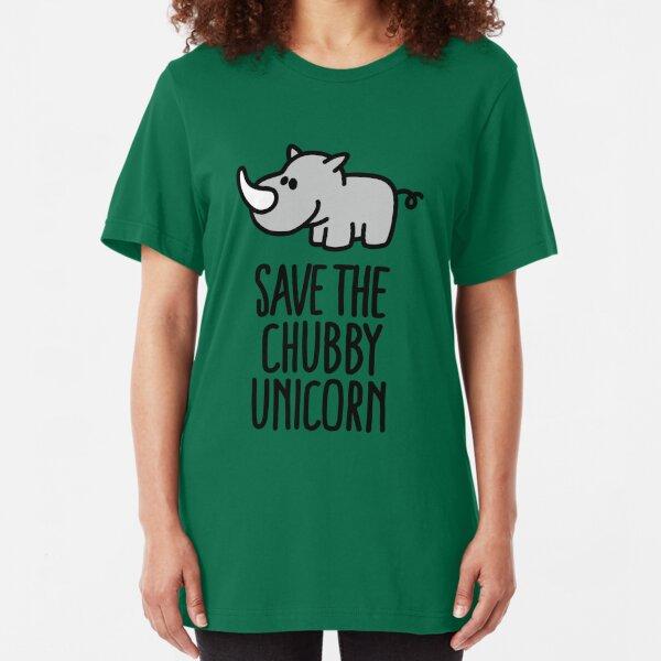 Save the chubby unicorn Slim Fit T-Shirt