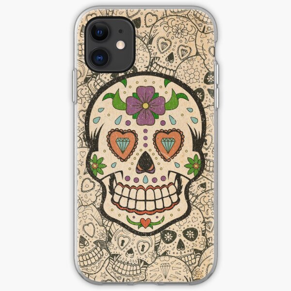 Worn Sugar Skull #2 iPhone Soft Case