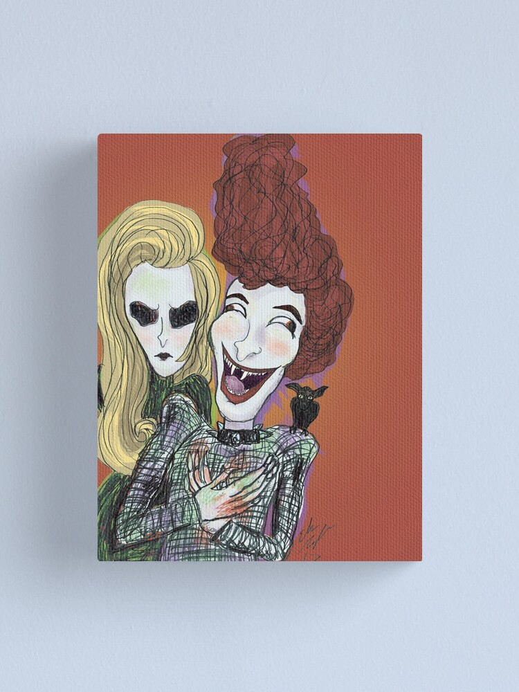 Alternate view of The Laughing Vampire Canvas Print