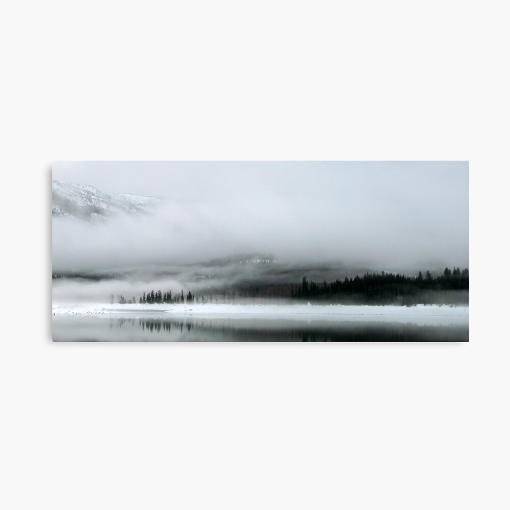 Lake Kecheelus Snow #2 Canvas Print
