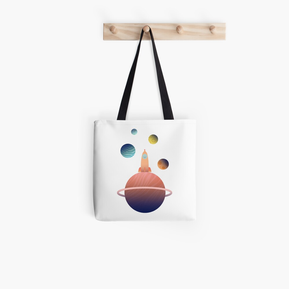 Into Space Tote Bag