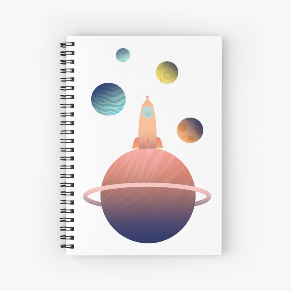 Into Space Spiral Notebook