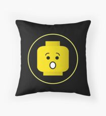 MINIFIG SHOCKED FACE Throw Pillow