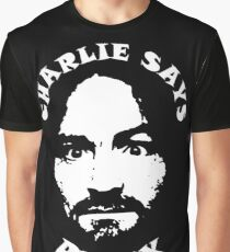 """Charlie Says, """"Relax"""" Graphic T-Shirt"""