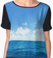 Open Ocean - Tropical Horizon Series Chiffon Top