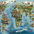 Animals Wold Map by Kevin Middleton