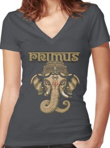 Primus - Elephant Hindu Women's Fitted V-Neck T-Shirt