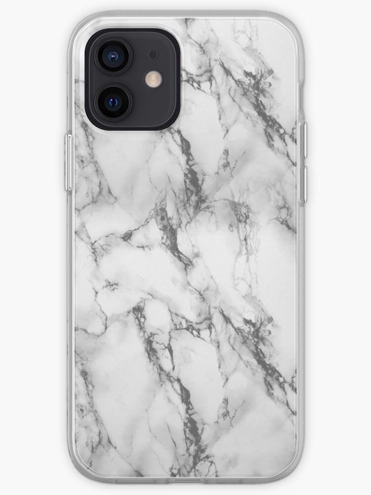 Effet marbre noir et blanc   Coque iPhone